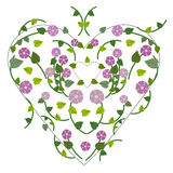 Spring flowers with heart background Royalty Free Stock Images