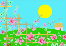 Spring flowers illustration Stock Photo