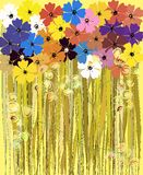 Spring flowers,  illustration Stock Images