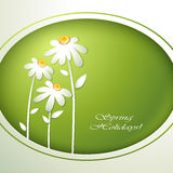 Spring flowers invitation Stock Images