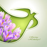 Spring flowers invitation Royalty Free Stock Photography