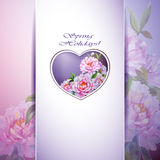 Spring flowers invitation Stock Photo