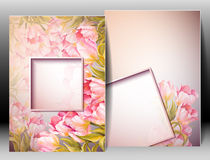 Spring flowers invitation template card Stock Images
