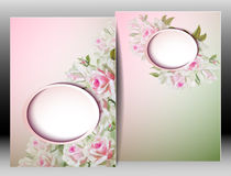 Spring flowers invitation template card Royalty Free Stock Photography