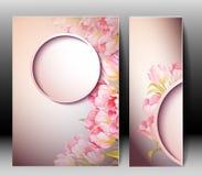 Spring flowers invitation template card Stock Photos