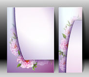 Spring flowers invitation template card Royalty Free Stock Photos
