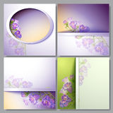 Spring flowers invitation template card Stock Photography