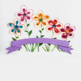Spring flowers made quilling Royalty Free Stock Photos