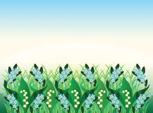 Spring Flowers Ornament Stock Image