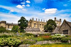 Spring Flowers overlooking Christchurch in Oxford.  Stock Photos