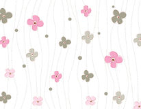 Spring flowers pattern Stock Photos
