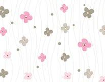 Spring flowers pattern Stock Photos