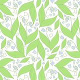 Spring flowers pattern. Blue and white pattern. stock illustration