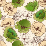 Spring flowers pattern Stock Image