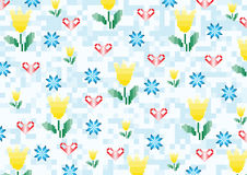 Spring flowers pixels Stock Images