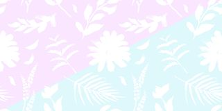 Spring flowers seamless blue botanical pattern. Fresh spring watercolor floral seamless pattern for wedding cards, seamless pattern background of websites and Stock Photography