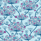 Spring Flowers Seamless Pattern Background. Vectpr Spring Flowers Seamless Pattern Background with hand draw elements vector illustration