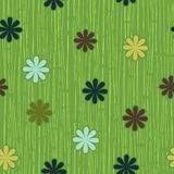 Spring flowers seamless pattern in vector Stock Images