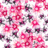 Spring flowers seamless pattern. Royalty Free Stock Photo