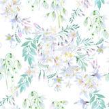 Spring flowers seamless pattern Stock Photos