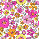 Spring Flowers Seamless Repeat Pattern Vector Illu stock illustration