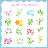Spring Flowers Set.Vector illustration Royalty Free Stock Photos