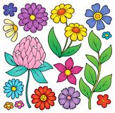 Spring flowers thematic set 2 Royalty Free Stock Photo