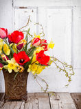 Spring flowers in a vase Stock Image