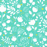 Spring Flowers. Vector Seamless Pattern Royalty Free Stock Photos