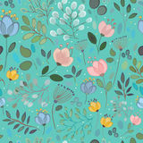 Spring Flowers. Vector Seamless Pattern Stock Photography