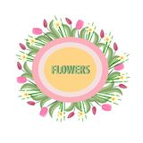 Spring flowers on a white background vector illustration
