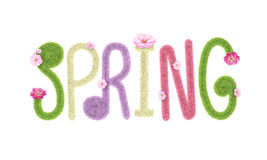 Spring fluffy font lettering isolate 3D rendering royalty free stock images