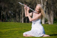 Spring Flutist Royalty Free Stock Images