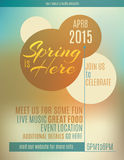 Spring flyer template design. Live music festival spring poster or flyer design template Royalty Free Stock Photos