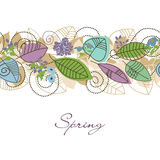 Spring foliage decoration Stock Photos