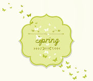 Spring forest nature invitation cards Stock Photo