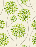 Spring forest. Seamless vector illustration. Spring forest in green. Seamless vector illustration Stock Image