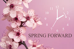 Spring Forward. Daylight Saving Time Begins Concept Stock Images