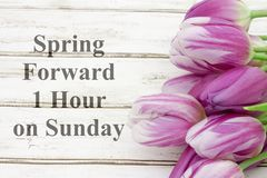 Spring Forward one hour message Royalty Free Stock Photography