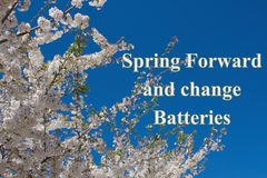 Spring Forward message Stock Image