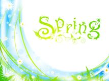 Spring frame Stock Photography