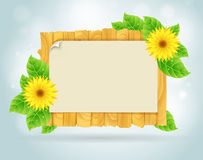 Spring frame royalty free illustration