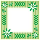 Spring frame. Green spring frame with flowers and plants Stock Illustration