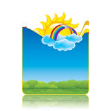 Spring frame. With sun and clouds.Vector Royalty Free Stock Photos