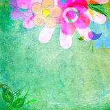 Spring frame, vintage scratchy look Royalty Free Stock Photo