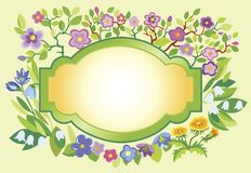 Spring frame Royalty Free Stock Photography