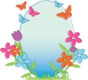 Spring frame Stock Photo