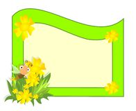 Spring frame, cdr vector Royalty Free Stock Images
