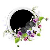 Spring frame with colour heartsease Royalty Free Stock Images