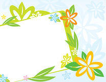 Spring frame with flowers Stock Images